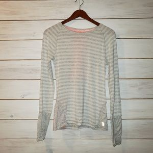 MPG  Long Sleeve Reflective Striped Top